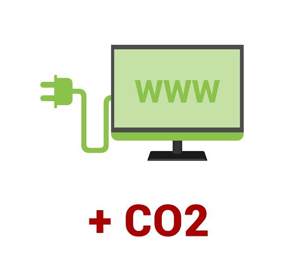 I siti web producono CO2