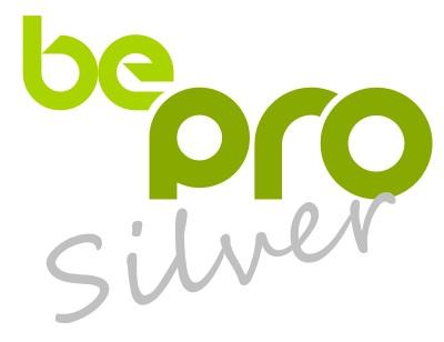 logo be pro silver